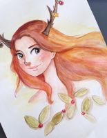 Fawn | Watercolour experiment by Liss-Lily