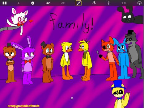 FNaF  family! by CreepypastaDeathNote