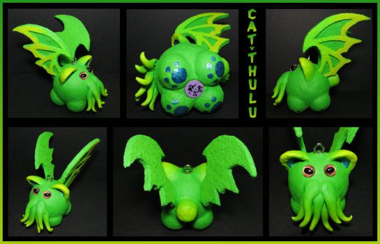 Cat-thulu the Kitten Cthulu by crokittycats