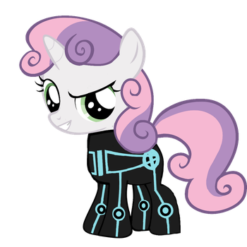 Sweetie Belle-Tron Cosplay (Request) by EmoshyVinyl