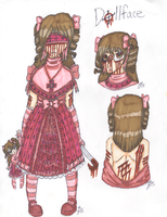 CP OC REFERENCE: Dollface (Still in Development) by InvaderIka