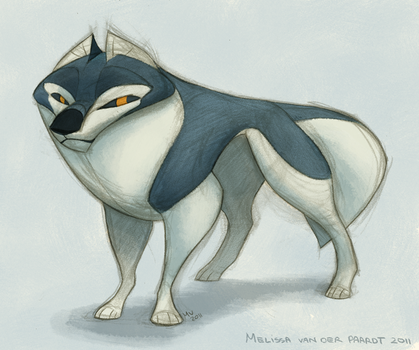 Wolf Design by sketchinthoughts