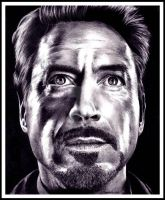 Robert Downey Jr ~ Tony Stark by Doctor-Pencil