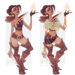 Fire Sorcerer OC Dungeons and Dragons by Naimly