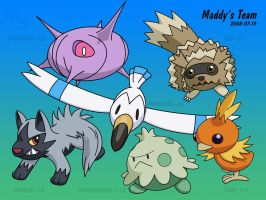Maddy's Pokemon Team by fab-wpg