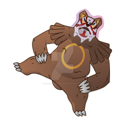 Ursaring Uses Scary Face by PluivantLaChance