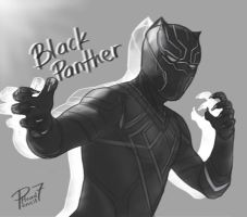 Black Panther by pencilHead7