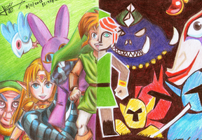 The two worlds  of LINK BETWEEN WORLDS by ArelArts