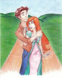 Giselle and Robert Colored by vanillacoke-disney