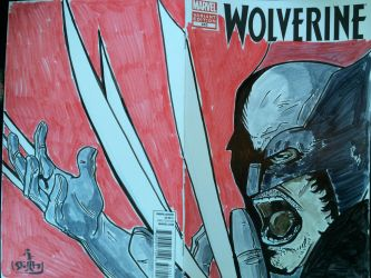 Wolverine sketch cover for my buddy's Graduation by Stilltsinc