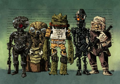 Star Wars Bounty Hunters colour sample by mattsoffe