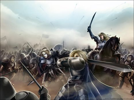 Commission - Battle at Archel by Exarrdian