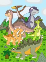 Dinosaurs in the Great Valley by MCsaurus