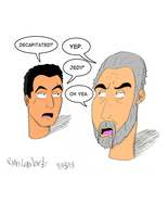 Star Wars- Decapitated Jango n' Dooku by Vearce