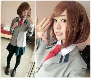 Ochaco costest by HarukaSiebenmeer