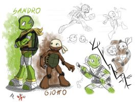 Sandro and Giotto by AR-ameth