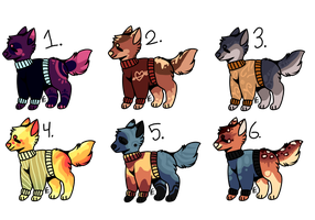 Canine Adoptables [Auction][Open 1\6] by SinniVinni