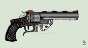 Hellish Hand Cannon by HypnoZeus