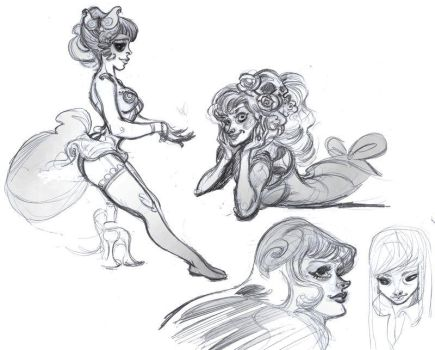 Evening sketches by Sally-Avernier