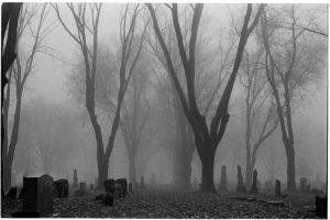Foggy Graveyard by BlackHive