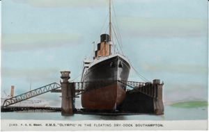 R.M.S OLYMPIC In The Floating Dry-Dock~SOUTHAMPTON by RMS-OLYMPIC