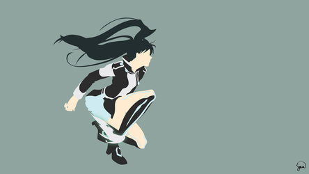 Lenalee Lee (D.Gray-man) Minimalist Wallpaper by greenmapple17