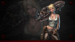 Anya Gears of War wallpaper 2 by warballoon