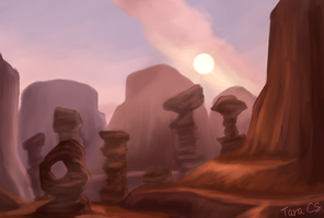 World of Warcraft - Thousand Needles by TaraOBerry