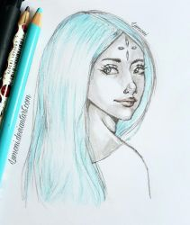 Simple sketch : Calm and Cold  by Lumoni