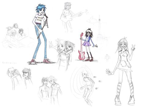 Gorillaz, Sketches by Its-A-Hard-Life