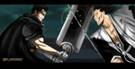 Battle of the giant swordsmen - Guts vs Kenpachi!! by Yazuda