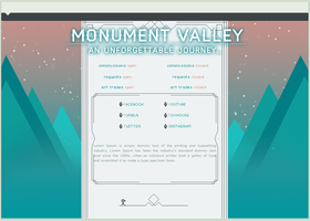 # 01 Monument Valley | custom graphic by AjisaiGraphics