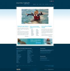 Dolphin Therapy website by anca-v