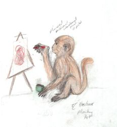 Monkey with a Crayon-Final by DruidElf
