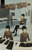 Star Trek: Pulp Cover by GollyAbsolutely