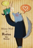 Mister Wolf and Rufus the Bunny by MariChan27
