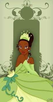 Tiana card colored by VPdessin