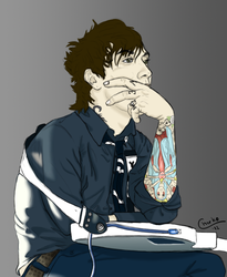 Frank Iero in Deep Thought by Chirko