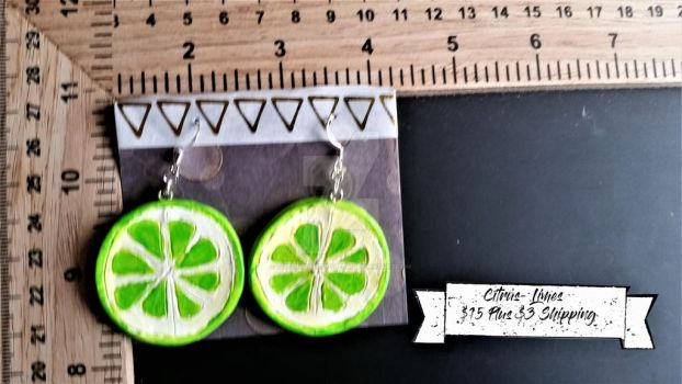 Citrus- Lime Earrings by TheTrueGypsyQueen
