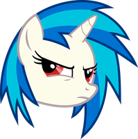 Vinyl Scratch - Suspicious by namelesshero2222