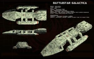 Battlestar Galactica (TOS) ortho by unusualsuspex