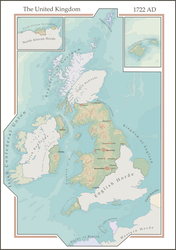 Remaster of an old map. The UK with zombies (1722) by theaidanman