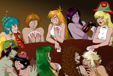 Strip Poker by genevievedee