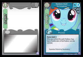 MLP TCG Card Template - Mane (Front) by Abion47