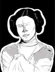 Carrie Fisher tribute by Jos-off