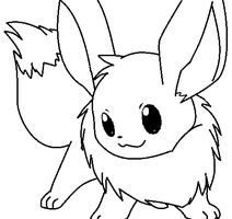 eevee lineart1 by michy123