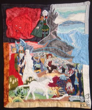 The Last Unicorn Tapestry by AriesNamarie