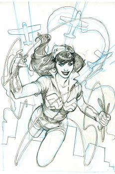 Bombshells United 1 Cover Pencils by TerryDodson
