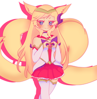 [League of Legends] Star Guardian Ahri by lacesandribbons