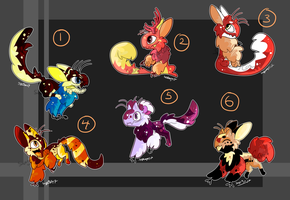 Colorful Tiwit adoptables [OPEN  1/6 ] by Savage-Mojo
